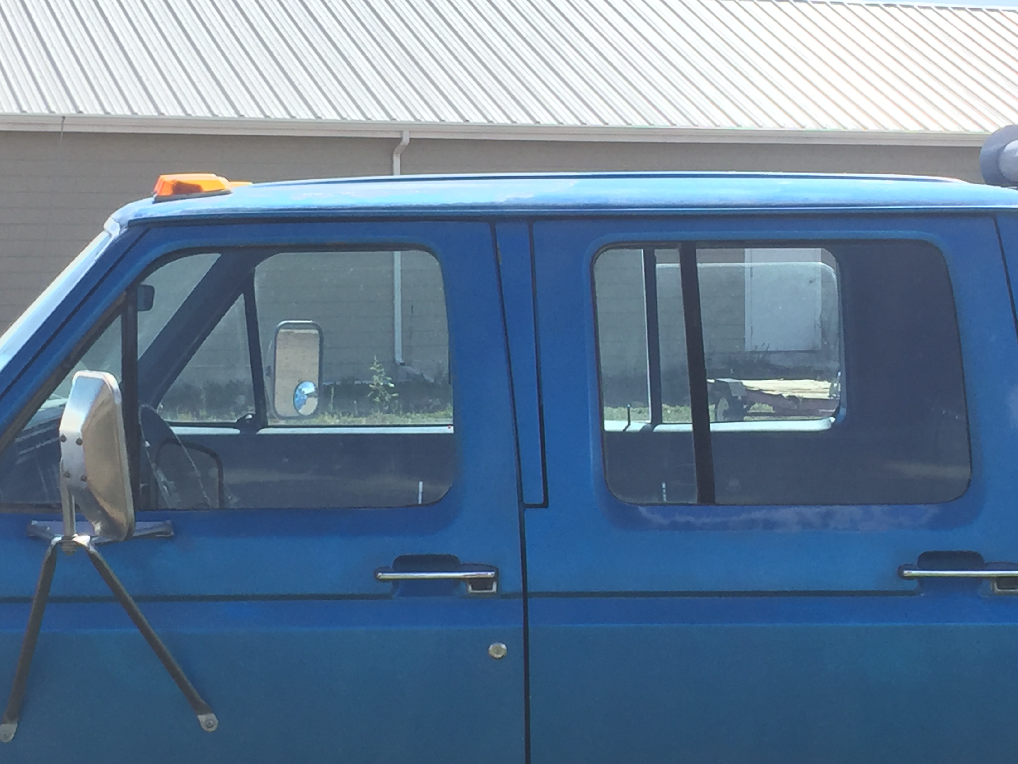 After removal of old failed window tint